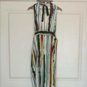 Paint Striped Halter Jumpsuit